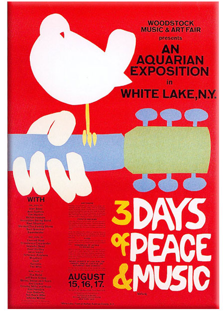Woodstock_poster    פסטיבל וודסטוק כרזה